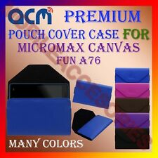 ACM-PREMIUM POUCH LEATHER CARRY CASE for MICROMAX CANVAS FUN A76 MOBILE COVER