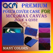 ACM-PREMIUM POUCH LEATHER CARRY CASE for MICROMAX CANVAS JUICE 4 Q382 COVER NEW