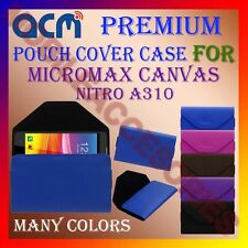 ACM-PREMIUM POUCH LEATHER CARRY CASE for MICROMAX CANVAS NITRO A310 MOBILE COVER