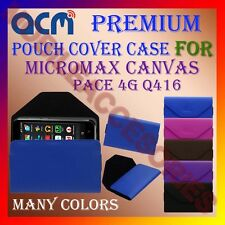 ACM-PREMIUM POUCH LEATHER CARRY CASE for MICROMAX CANVAS PACE 4G Q416 COVER NEW