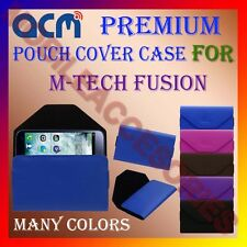 ACM-PREMIUM POUCH LEATHER CARRY CASE for M-TECH FUSION MOBILE COVER HOLDER NEW