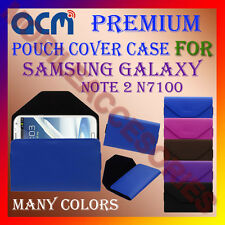 ACM-PREMIUM POUCH LEATHER CARRY CASE for SAMSUNG NOTE 2 N7100 MOBILE COVER NEW