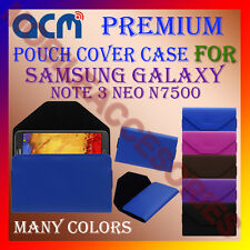 ACM-PREMIUM POUCH LEATHER CARRY CASE for SAMSUNG NOTE 3 NEO N7500 MOBILE COVER