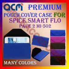 ACM-PREMIUM POUCH LEATHER CARRY CASE for SPICE SMART FLO PACE 2 MI-502 COVER NEW
