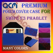 ACM-PREMIUM POUCH LEATHER CARRY CASE for SWIPE F3 PHABLET MOBILE COVER HOLDER