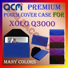 ACM-PREMIUM POUCH LEATHER CARRY CASE for XOLO Q3000 MOBILE COVER HOLDER PROTECT