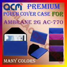 ACM-PREMIUM POUCH LEATHER CARRY CASE for AMBRANE 2G AC-770 TABLET COVER HOLDER