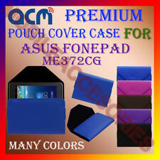 ACM-PREMIUM POUCH LEATHER CARRY CASE for ASUS FONEPAD ME372CG TABLET TAB COVER