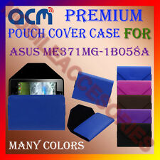 ACM-PREMIUM POUCH LEATHER CARRY CASE for ASUS ME371MG-1B058A TABLET TAB COVER