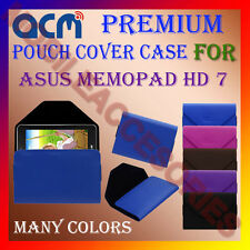 ACM-PREMIUM POUCH LEATHER CARRY CASE for ASUS MEMOPAD HD 7 TABLET COVER HOLDER