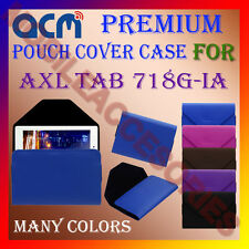 ACM-PREMIUM POUCH LEATHER CARRY CASE for AXL TAB 718G-IA TABLET COVER HOLDER NEW