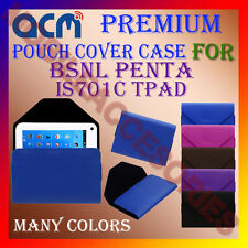 ACM-PREMIUM POUCH LEATHER CARRY CASE for BSNL PENTA IS701C TPAD TABLET TAB COVER