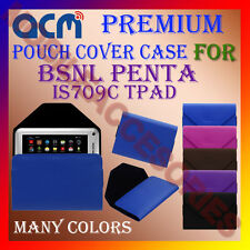 ACM-PREMIUM POUCH LEATHER CARRY CASE for BSNL PENTA IS709C TPAD TABLET TAB COVER