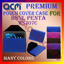 ACM-PREMIUM POUCH LEATHER CARRY CASE for BSNL PENTA WS707C TABLET TAB COVER NEW