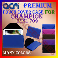 ACM-PREMIUM POUCH LEATHER CARRY CASE for CHAMPION BSNL 709 TABLET COVER HOLDER