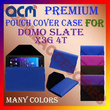 ACM-PREMIUM POUCH LEATHER CARRY CASE for DOMO SLATE X3G 4TH TABLET TAB COVER NEW