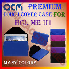 ACM-PREMIUM POUCH LEATHER CARRY CASE for HCL ME U1 TABLET TAB COVER HOLDER NEW