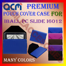 ACM-PREMIUM POUCH LEATHER CARRY CASE for IBALL PC SLIDE I6012 TABLET TAB COVER