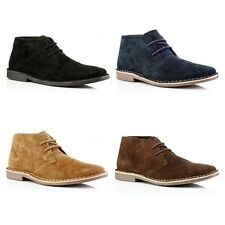 Mens Red Tape Gobi Suede Lace Up Ankle Desert Boots Size 6-12 FREE SHIPPING