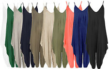 C47 NEW WOMENS ROMPER V NECK BAGGY FIT LADIES SUMMER CAMI JUMP TROUSER SUIT.