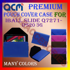 ACM-PREMIUM POUCH LEATHER CARRY CASE for IBALL SLIDE Q7271-IPS20 3G TABLET COVER