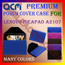ACM-PREMIUM POUCH LEATHER CARRY CASE for LENOVO IDEAPAD A2107 TAB TABLET COVER