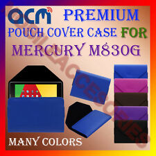 ACM-PREMIUM POUCH LEATHER CARRY CASE for MERCURY M830G TAB TABLET COVER HOLDER