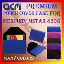 ACM-PREMIUM POUCH LEATHER CARRY CASE for MERCURY MSTAR 830G TAB TABLET COVER