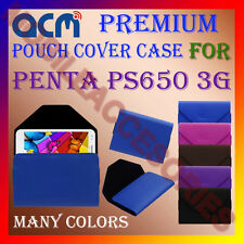 ACM-PREMIUM POUCH LEATHER CARRY CASE for PENTA PS650 3G TABLET TAB COVER HOLDER
