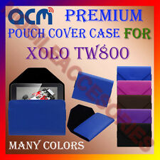 ACM-PREMIUM POUCH LEATHER CARRY CASE for XOLO TW800 TABLET COVER HOLDER PROTECT
