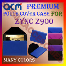 ACM-PREMIUM POUCH LEATHER CARRY CASE for ZYNC Z900 TABLET COVER HOLDER PROTECT