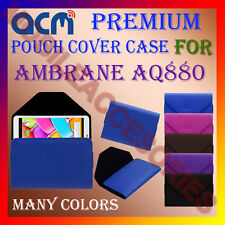 ACM-PREMIUM POUCH LEATHER CARRY CASE for AMBRANE AQ880 TABLET TAB COVER HOLDER