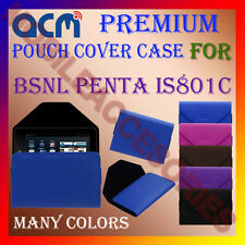 ACM-PREMIUM POUCH LEATHER CARRY CASE for BSNL PENTA IS801C TABLET COVER HOLDER