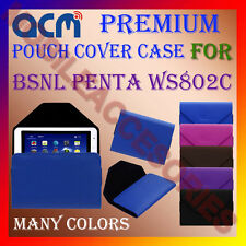 ACM-PREMIUM POUCH LEATHER CARRY CASE for BSNL PENTA WS802C TABLET COVER HOLDER