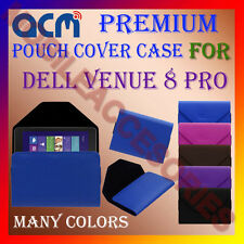ACM-PREMIUM POUCH LEATHER CARRY CASE for DELL VENUE 8 PRO TABLET COVER HOLDER