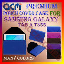 ACM-PREMIUM POUCH LEATHER CARRY CASE for SAMSUNG GALAXY TAB A T355 TABLET COVER
