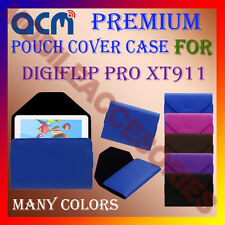 ACM-PREMIUM POUCH LEATHER CARRY CASE for DIGIFLIP PRO XT911 TABLET TAB COVER NEW