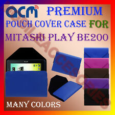 ACM-PREMIUM POUCH LEATHER CARRY CASE for MITASHI PLAY BE200 TABLET COVER HOLDER