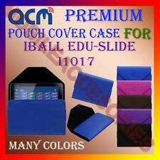 ACM-PREMIUM POUCH LEATHER CARRY CASE for IBALL EDU-SLIDE I1017 TABLET TAB COVER