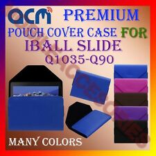 ACM-PREMIUM POUCH LEATHER CARRY CASE for IBALL SLIDE Q1035-Q90 TABLET TAB COVER
