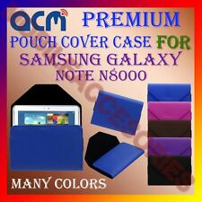 ACM-PREMIUM POUCH LEATHER CARRY CASE for SAMSUNG GALAXY NOTE N8000 TABLET COVER
