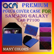 ACM-PREMIUM POUCH LEATHER CARRY CASE for SAMSUNG GALAXY TAB P7100 TABLET COVER