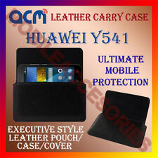 ACM-HORIZONTAL LEATHER CARRY CASE for HUAWEI Y541 MOBILE COVER HOLDER PROTECTION