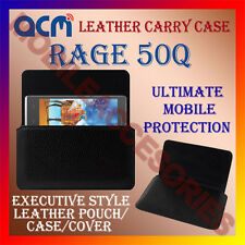 ACM-HORIZONTAL LEATHER CARRY CASE for RAGE 50Q MOBILE COVER HOLDER PROTECTION