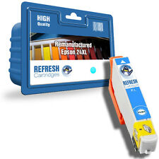 REMANUFACTURED (NON-GENUINE) 24XL CYAN HIGH CAPACITY INK CARTRIDGE FOR EPSON