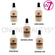 W7 MAKEUP GENIUS FEATHER LIGHT LIQUID FOUNDATION X 2 – ALL SHADES AVAILABLE!!!!