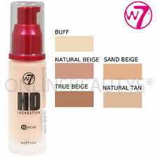 W7 X 2 HD HIGH DEFINITION LIQUID FOUNDATION – AVAILABLE IN ALL SHADES – NEW!