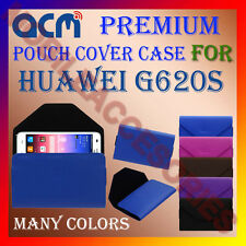 ACM-PREMIUM POUCH LEATHER CARRY CASE for HUAWEI G620S MOBILE COVER HOLDER LATEST