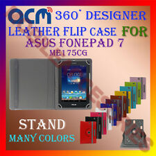 ACM-ROTATING 360° LEATHER FLIP STAND COVER CASE for ASUS FONEPAD 7 ME175CG TAB