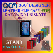ACM-ROTATING 360° LEATHER FLIP STAND COVER CASE for DATAWIND UBISLATE 3G7Z TAB